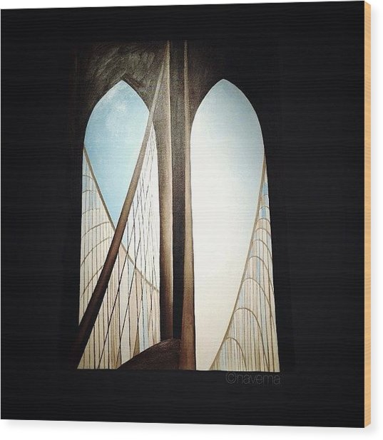 'brooklyn Bridge' By Georgia Wood Print by Natasha Marco
