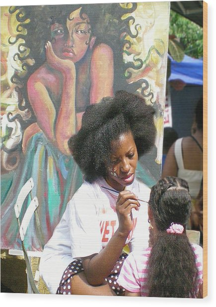 Brooklyn Face Painter Wood Print