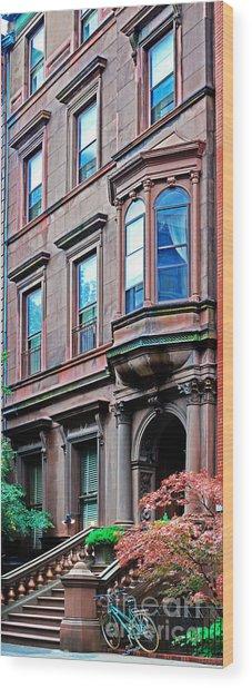 Brooklyn Heights - Nyc - Classic Building And Bike Wood Print