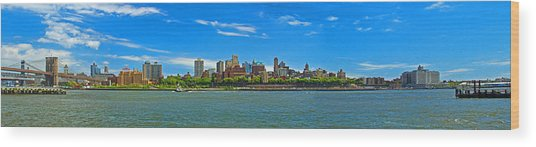 Brooklyn Panorama I Wood Print