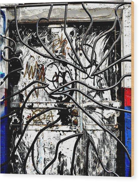 Broome Street Found Art Nyc Wood Print