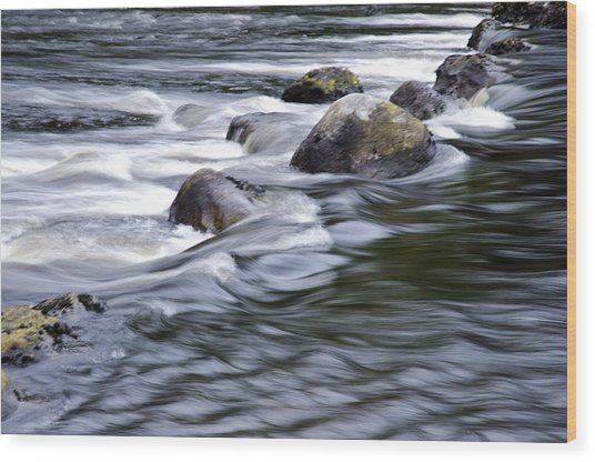 Brora River Scotland Wood Print