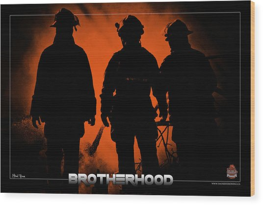 Brotherhood 1 Wood Print by Mitchell Brown