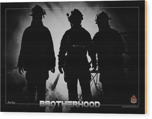 Brotherhood 2 Wood Print by Mitchell Brown