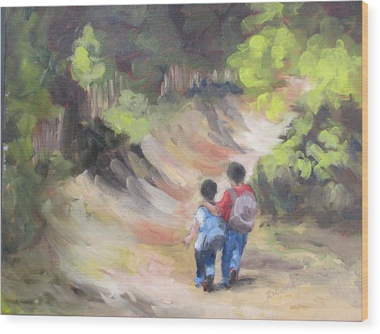 Brotherly Love Wood Print by Susan Richardson