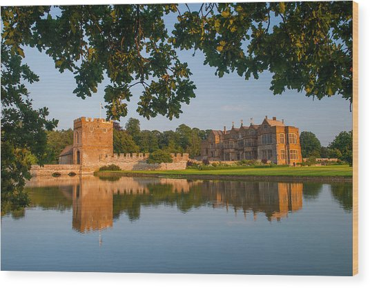 Broughton Castle Wood Print by David Ross