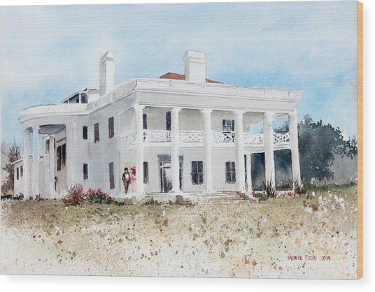Brown Mansion Wood Print