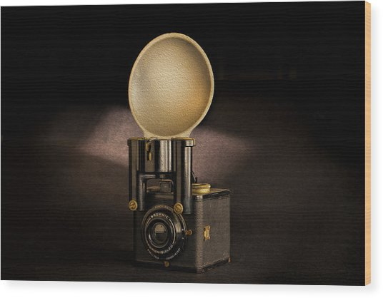 Brownie Flash Six-20 Circa 1946-1955 Wood Print by Peter Tellone