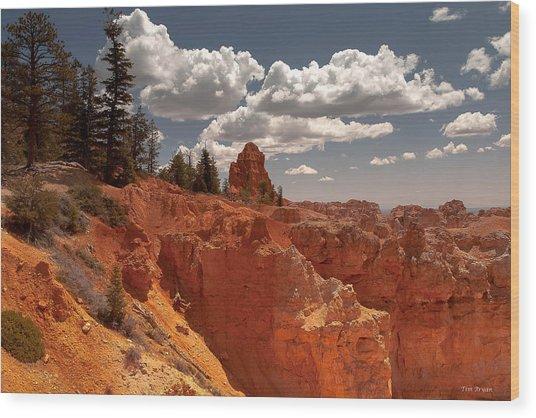 Bryce Canyon Sky  Wood Print