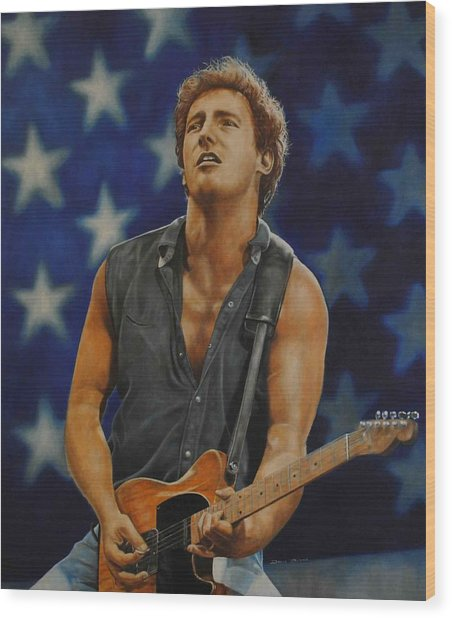 Bruce Springsteen 'born In The Usa' Wood Print