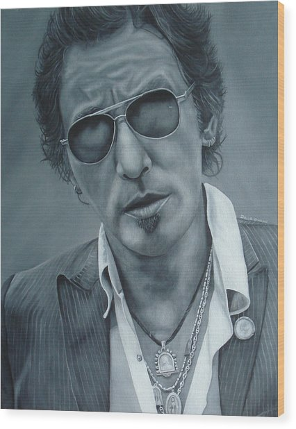 Bruce Springsteen IIi Wood Print