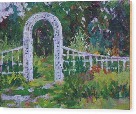 Brucemore Garden Gate Wood Print