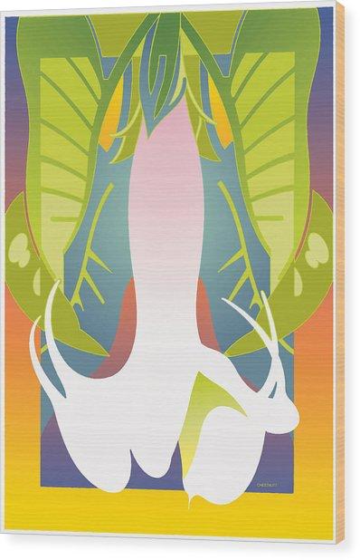 Brugmansia Wood Print
