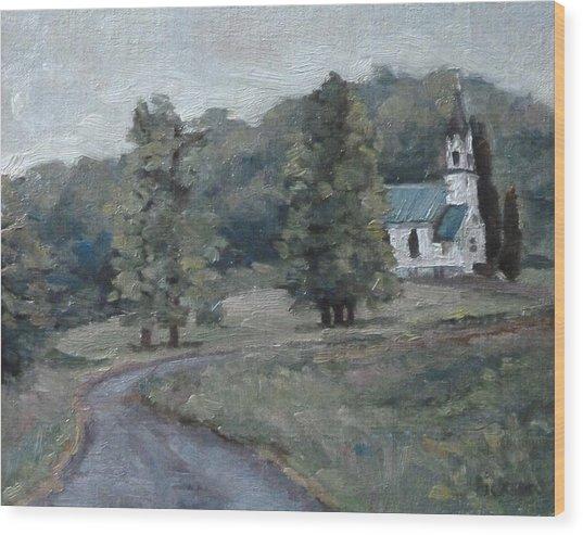 Brush Creek Church Wood Print