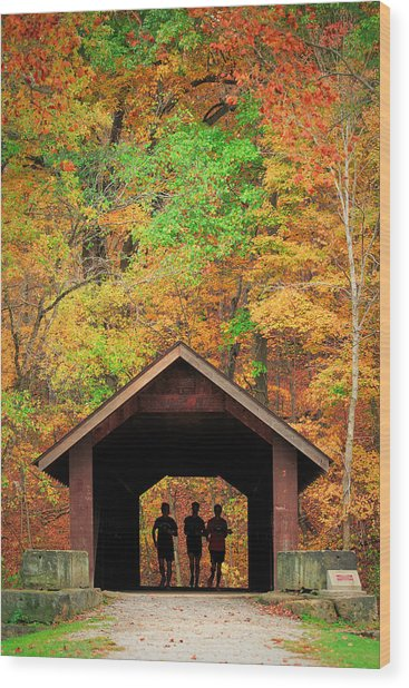 Brush Creek Covered Bridge Wood Print