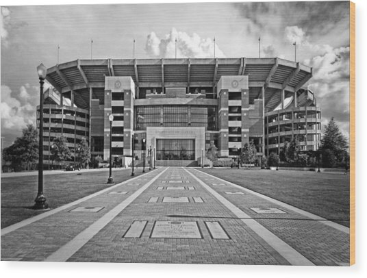 Wood Print featuring the photograph Bryant Denny Stadium 2011 by Ben Shields