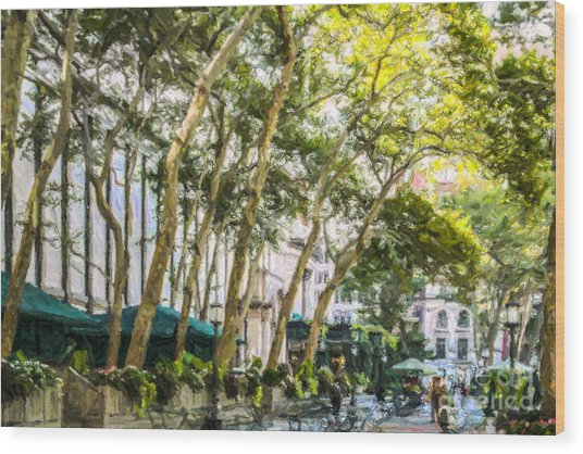 Bryant Park Midtown New York Usa Wood Print