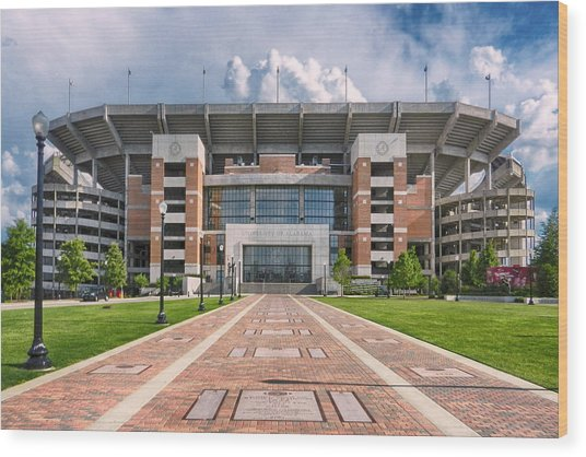 Wood Print featuring the photograph Bryant Denny Stadium by Ben Shields
