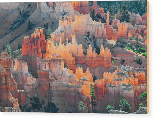 Bryce Canyon At Sunrise Wood Print