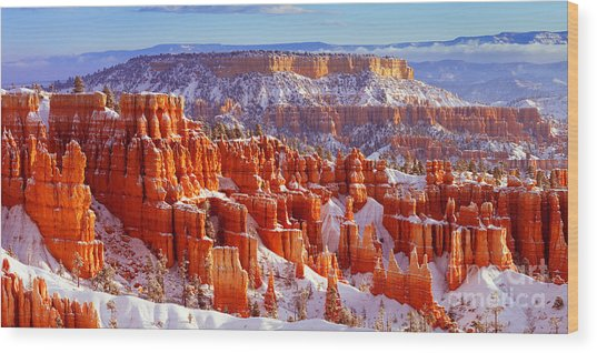 Bryce Canyon Panorama Wood Print