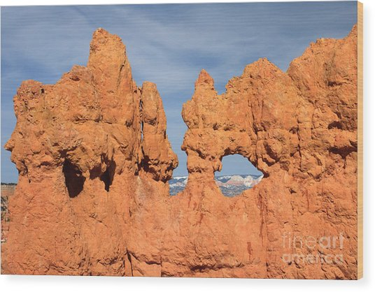 Bryce Canyon Peephole Wood Print