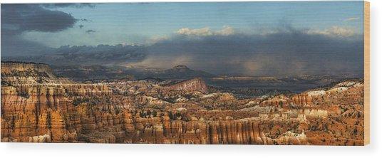 Bryce Storm Wood Print