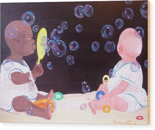 Bubble Babbies  Wood Print
