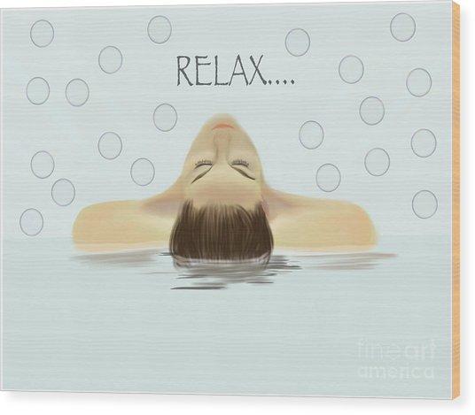 Bubble Bath Luxury Wood Print