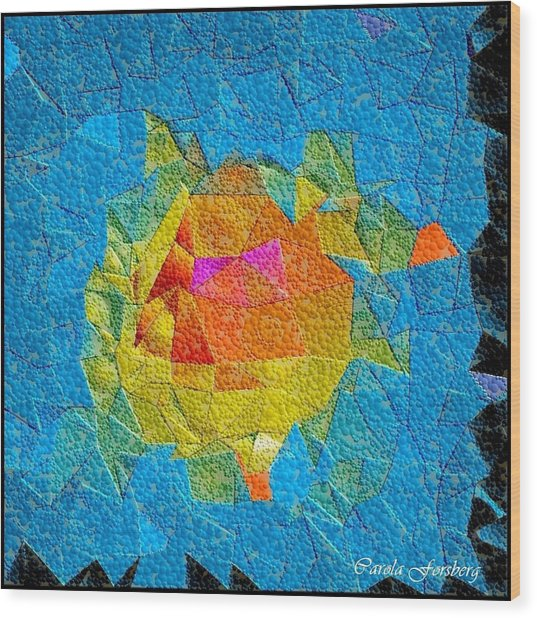 Bubble Kubism Wood Print by Carola Ann-Margret Forsberg