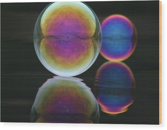 Bubble Spectacular Wood Print