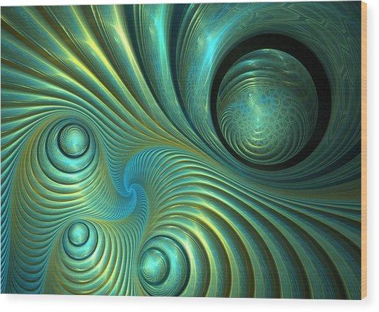 Bubble Spiral Wood Print