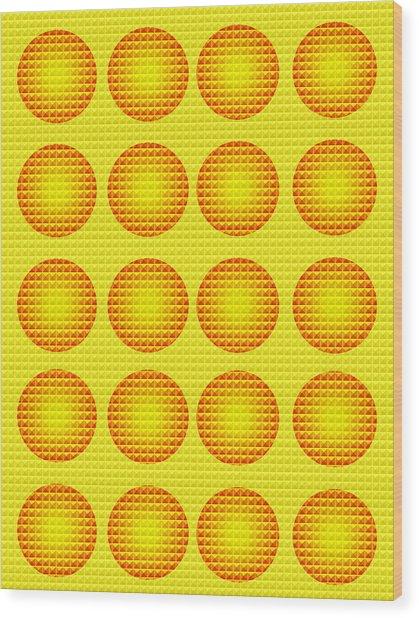 Bubbles Honeycomb Warhol  By Robert R Wood Print