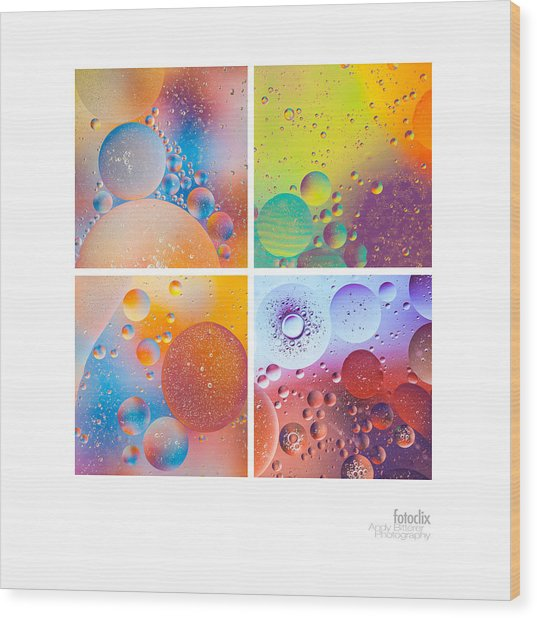 Bubbles I Wood Print