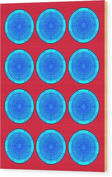 Bubbles Minty Blue Poster Wood Print