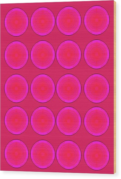 Bubbles Pink Peppemint Warhol  By Robert R Wood Print