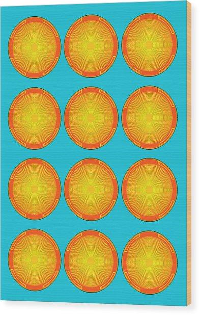 Bubbles Sky Orange Blue Warhol  By Robert R Wood Print