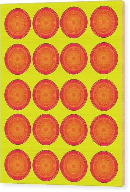 Bubbles Sunny Oranges Warhol  By Robert R Wood Print