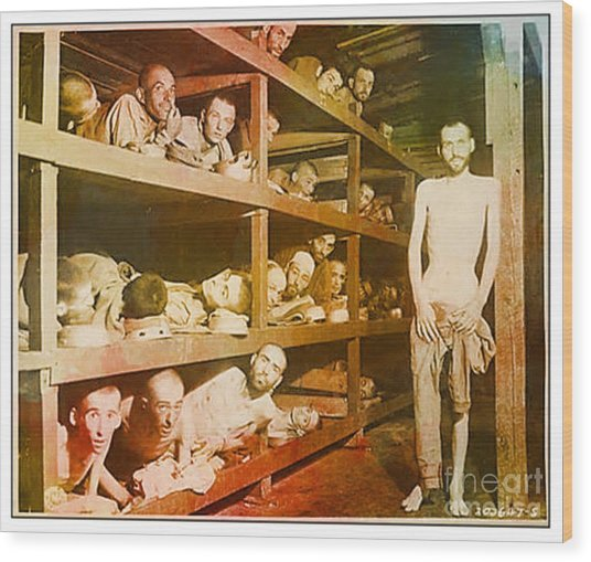 Buchenwald Concentration Camp Wood Print