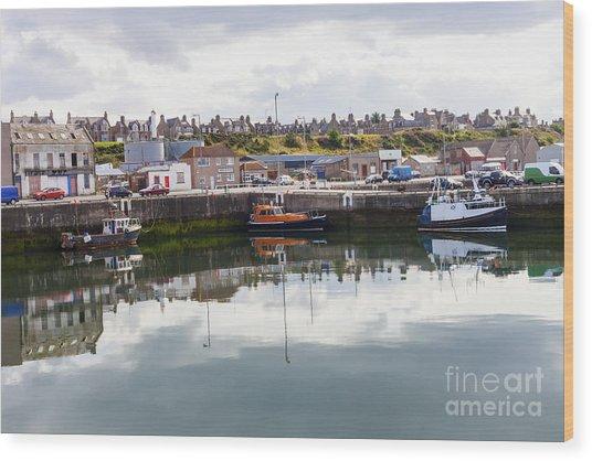 Buckie Harbour Wood Print