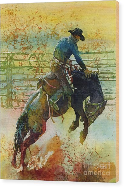 Bucking Rhythm Wood Print