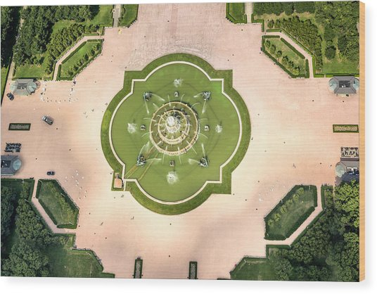 Buckingham Fountain  Aerial Wood Print