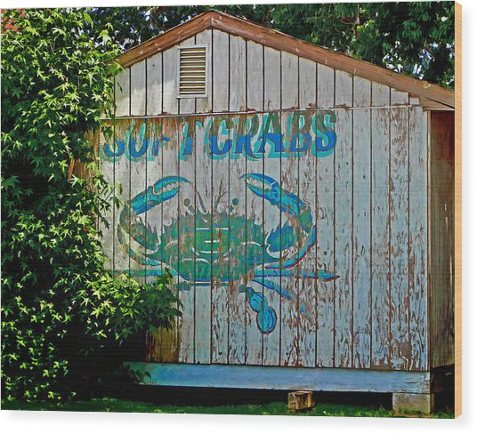 Buckroe Crab Shack Wood Print