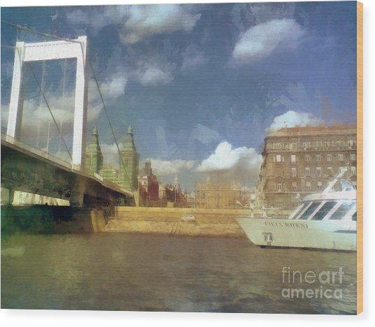 Budapest Elisabeth Bridge Wood Print