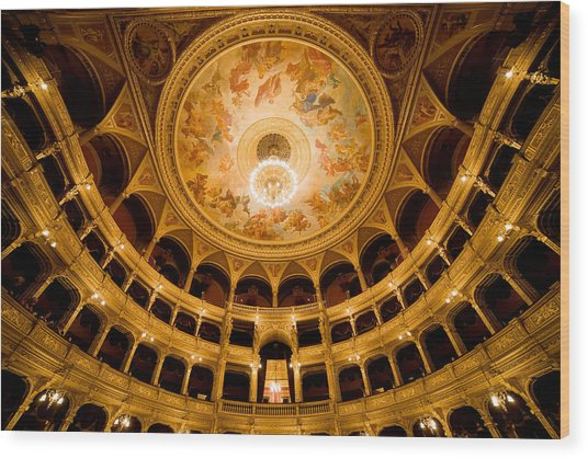 Budapest Opera House Auditorium Wood Print