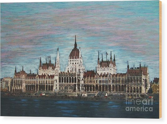 Budapest Parliament By Jasna Gopic Wood Print