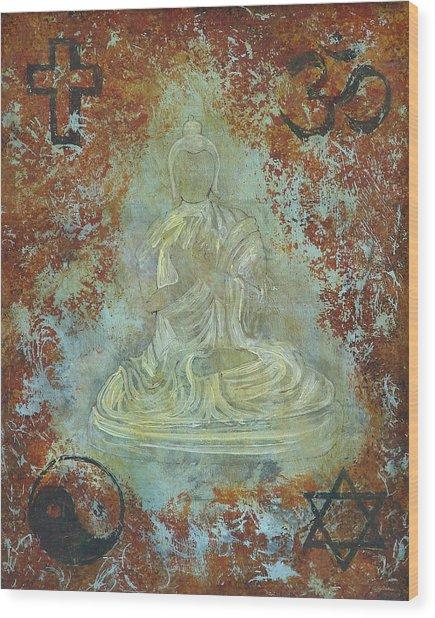 Budda Wood Print by Jeffrey Oldham