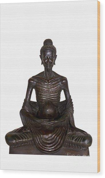 Buddha Attitude Subduing Himself Image Wood Print