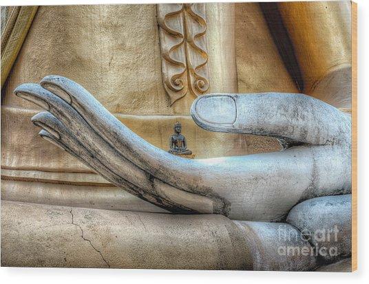 Buddha's Hand Wood Print