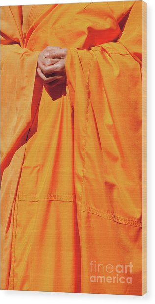 Buddhist Monk 02 Wood Print