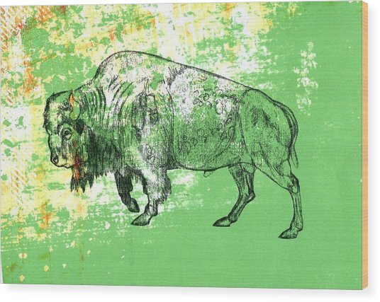 Buffalo 11 Wood Print